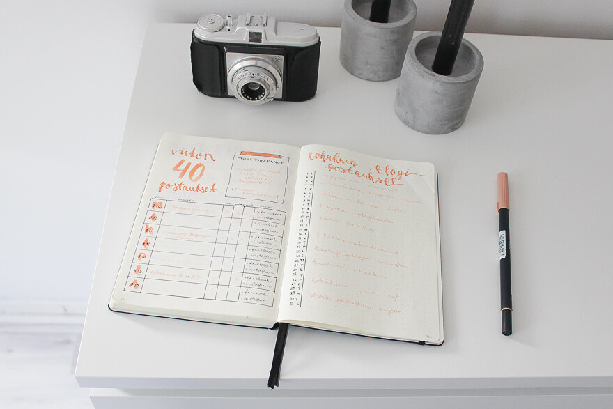 bloggaajan bullet journal