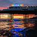 Rainbow Brighton Palace Pier Sign by lomokev