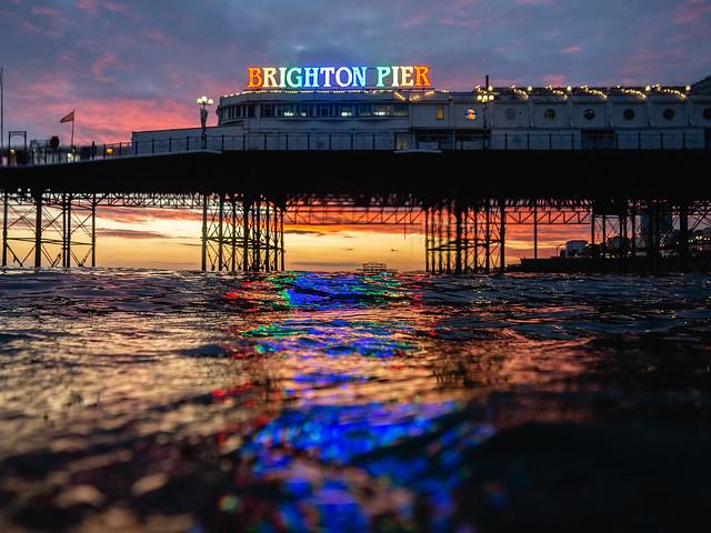 Rainbow Brighton Palace Pier Sign