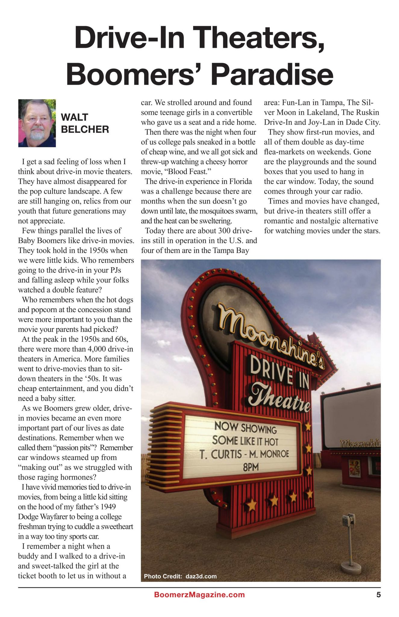 Boomerz Magazine 2018 November Drive In Theaters Boomers Paradise