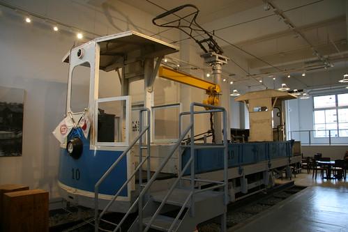 Yokohama Municipal Tram 10 series in Yokohama Tram Museum, Yokohama, Kanagawa, Japan  /July 17, 2017