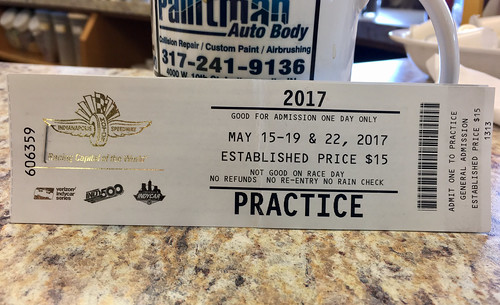 Indy 500 ticket