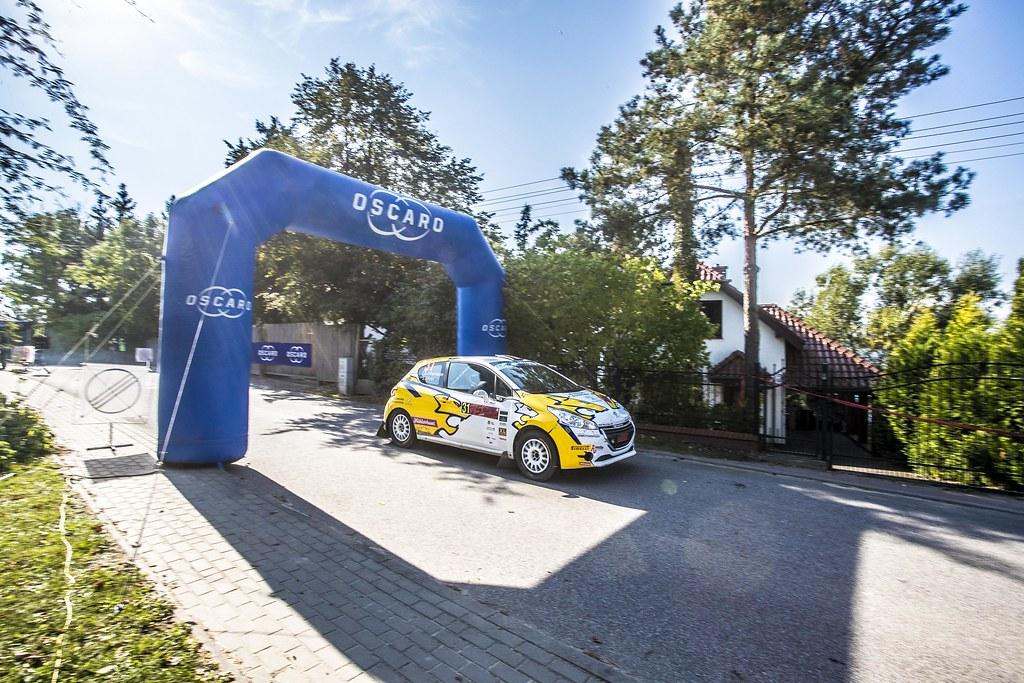31 JOHANSSON Sebastian (SWE), ELFVER Jesper (SWE), Peugeot 208 R2, action during the 2018 European Rally Championship PZM Rally Poland at Mikolajki from September  21 to 23 - Photo Gregory Lenormand / DPPI