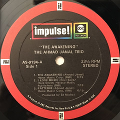 THE AHMAD JAMAL TRIO:THE AWAKENING(LABEL SIDE-A)