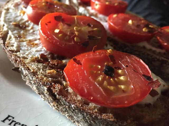Tomato toast w/ Marmite