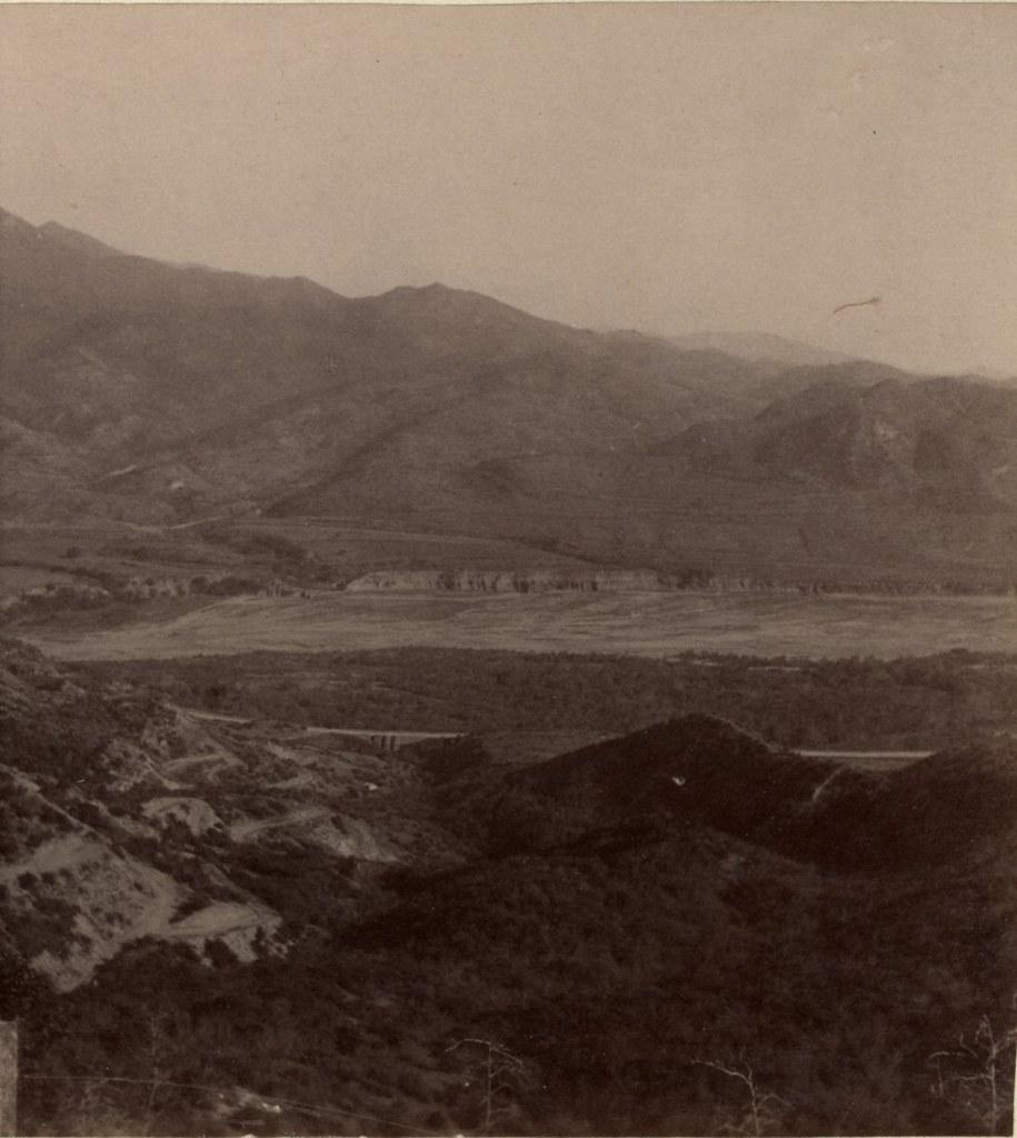 Усадьба «Ниави» князя П. И. Туманова, река Арагви и Сагурамские горы
