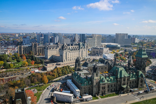 View of Ottawa from the Peace Tower