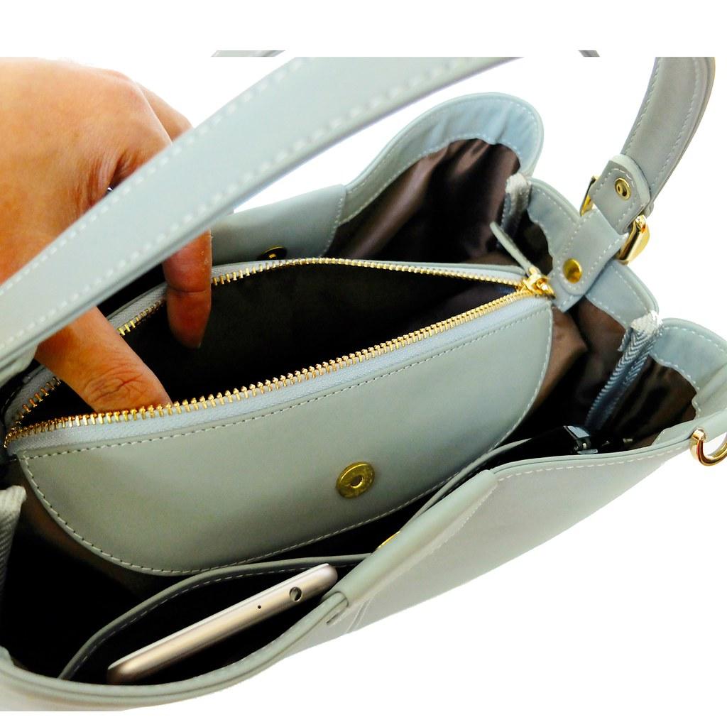 handbag pastel blue