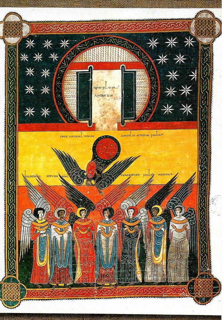 El tabernáculo. Los ángeles con las siete plagas. Ap. XV. 5-7