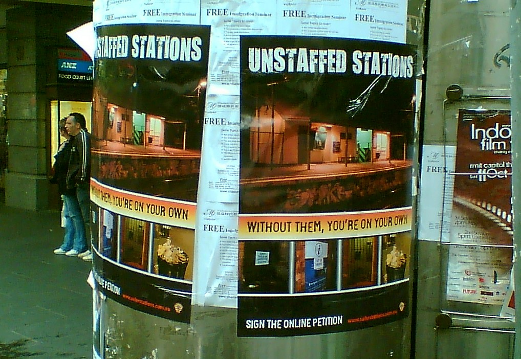 RTBU campaign for station staff, October 2008