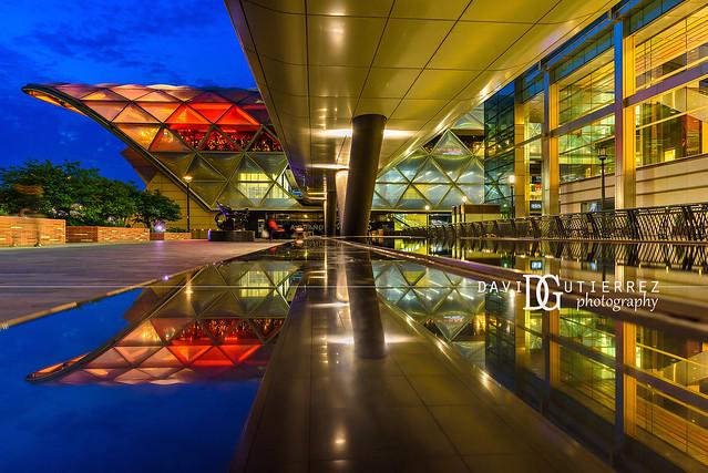 Geometric Mirror - Crossrail Place, Canary Wharf, London, UK