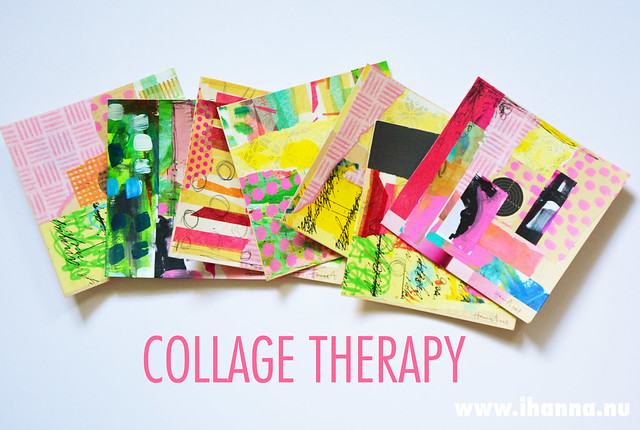 Collage therapy with iHanna