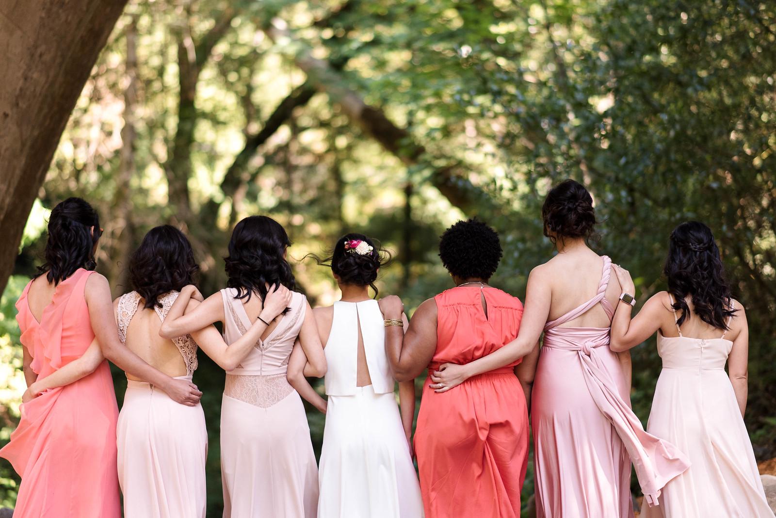 Mismatched Bridesmaids on juliettelaura.com