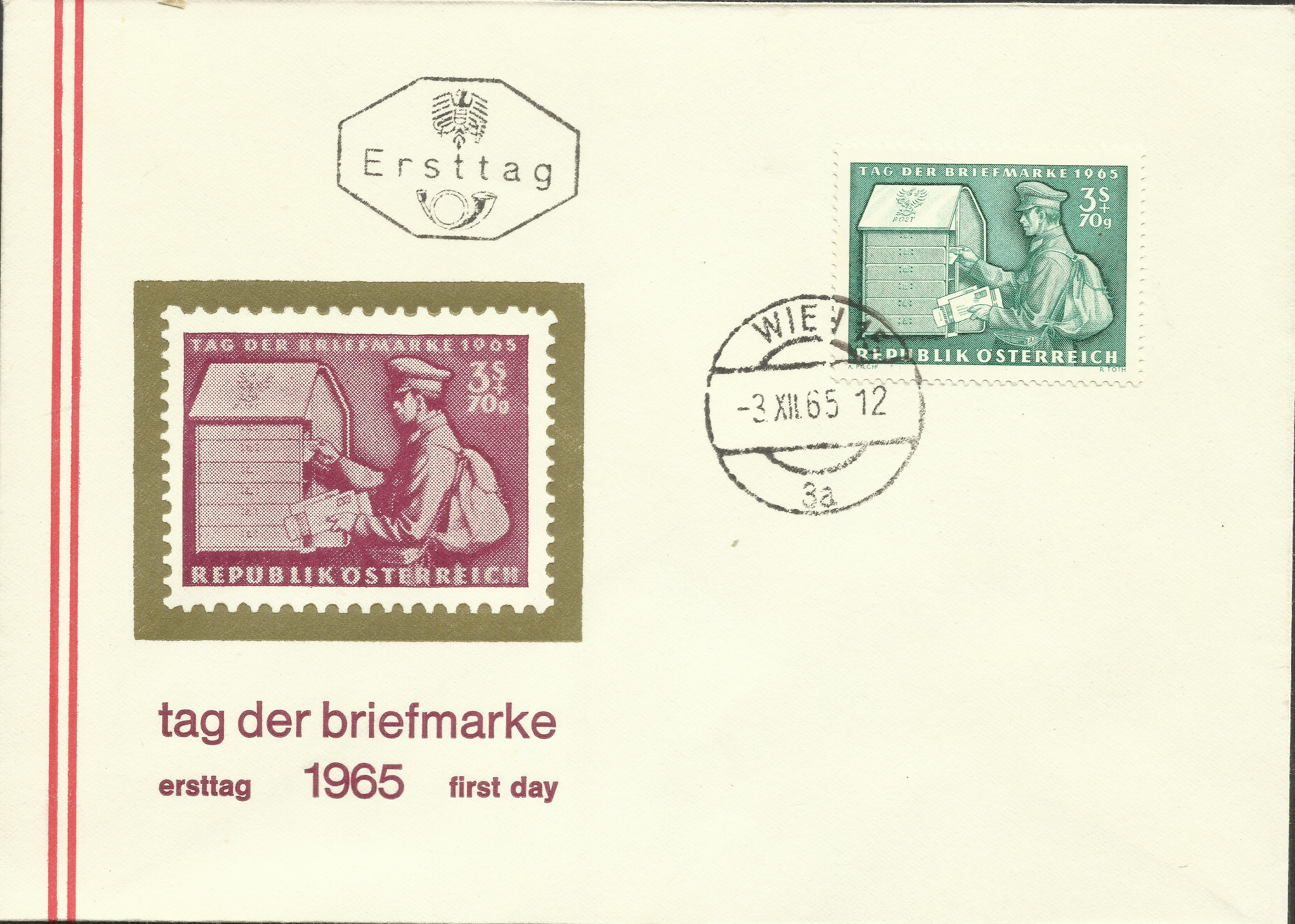 Austria - Scott #B321 (1965) first day cover