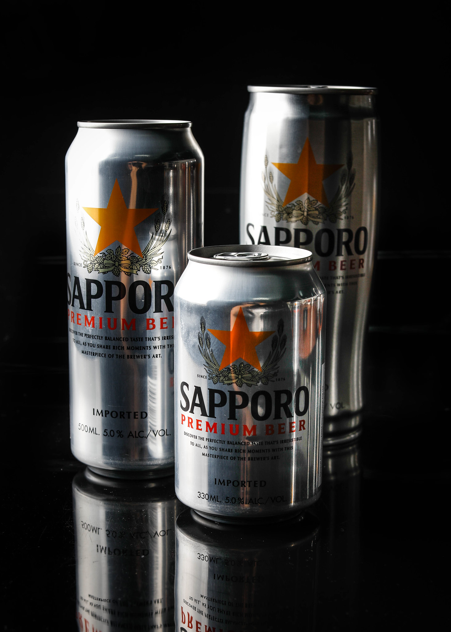 Sapporo Premium Beer Cans