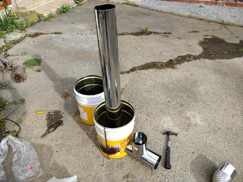 ビニールハウス用のストーブを作る (10)