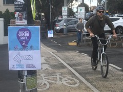 Upfield Bike Path on Ride to work Day 2018 at Coburg Mall
