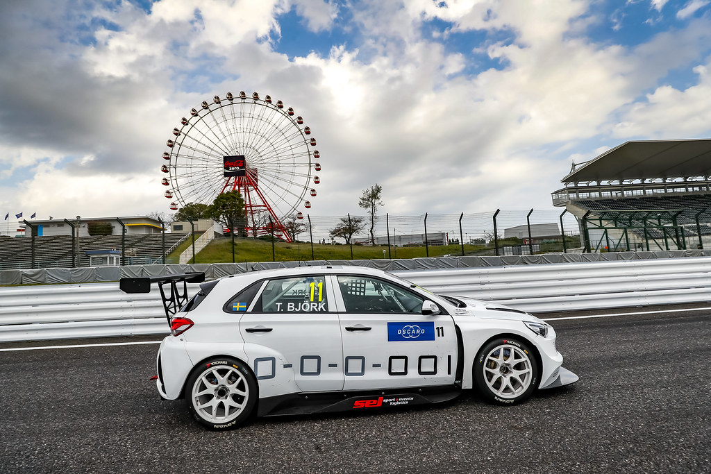 11 BJORK Thed, (swe), Hyundai i30 N TCR team Yvan Muller Racing, action during the 2018 FIA WTCR World Touring Car cup of Japan, at Suzuka from october 26 to 28 - Photo Clement Marin / DPPI