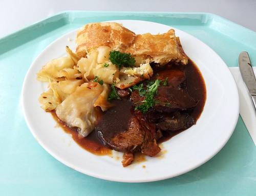 Roast ox with potato strudel & bavarian cabbage / Allgäuer Ochsenbraten mit Kartoffelstrudel & Bayerisch Kraut