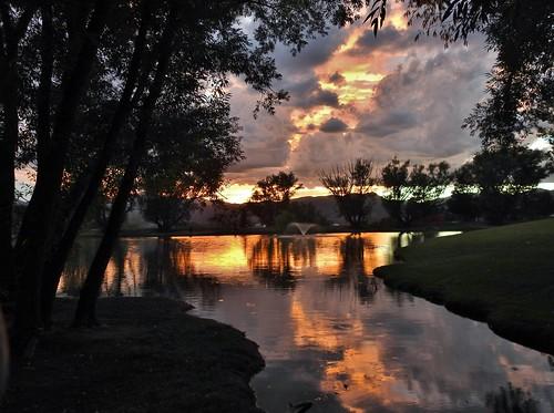 Reflection Pond sunset...Explored