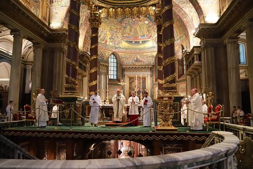 Rozpoczęcie pielgrzymki dziękczynnej archidiecezji krakowskiej do gorbuu Jana Pawła II w Rzymie, Bazylika Santa Maria Maggiore w Rzymie, 9.10.2018