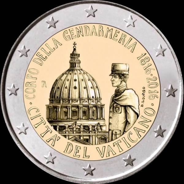 Oficiálne bal. 2 Euro Vatikán 2016, Gendarmeria (žandári)