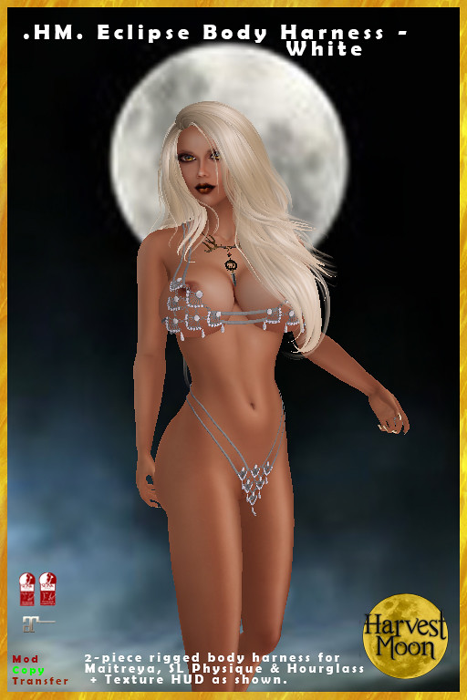 Harvest Moon - Eclipse Body Harness -White - TeleportHub.com Live!