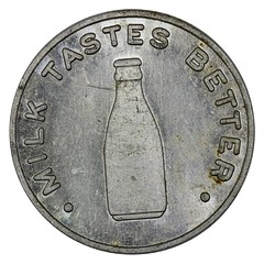 Australia New South Wales Milk Token obverse