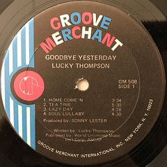 LUCKY THOMPSON:GOODBYE YESTERDAY(LABEL SIDE-A)