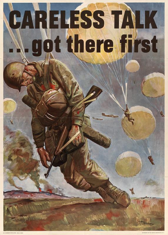 Careless talk ... - got there first (1944) - Herbert Morton Stoops (1888-1948)