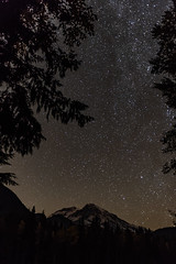 Mount Rainier stary night
