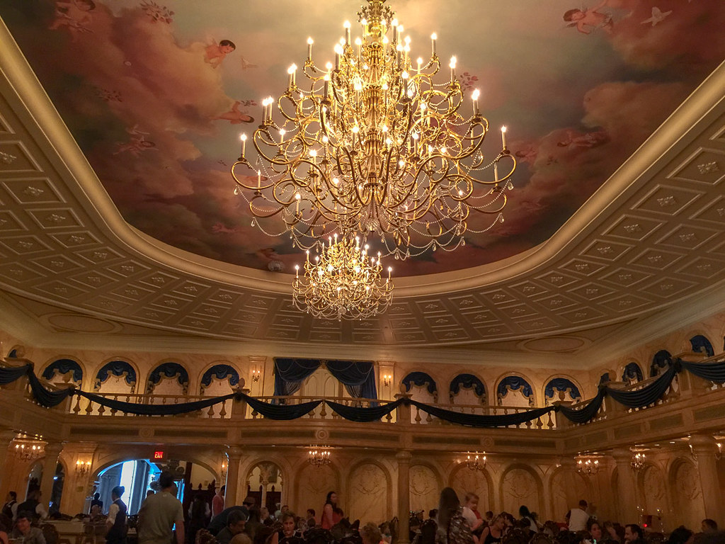 Chandelier at Be Our Guest at Magic Kingdom