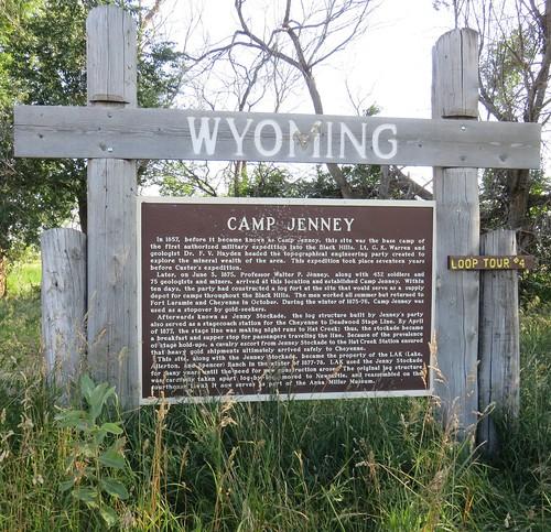 Camp Jenney Marker (Weston County, Wyoming)