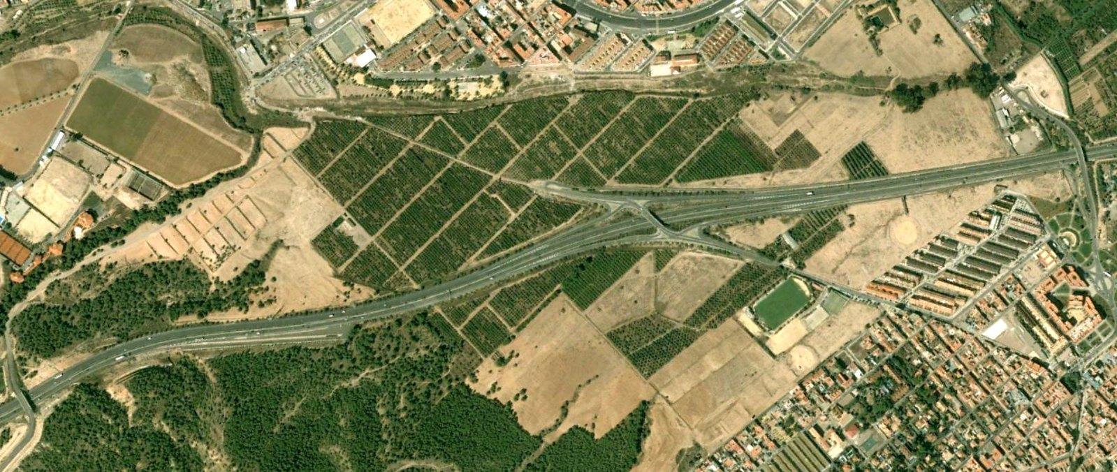 el palmar, la alberca, murcia, doble tanto de rotonda, antes, urbanismo, planeamiento, urbano, desastre, urbanístico, construcción