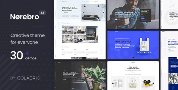 Norebro v1.3.9 - Creative Multipurpose WordPress Theme