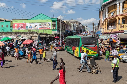 ghana kumasi bus market people street ashanti gh