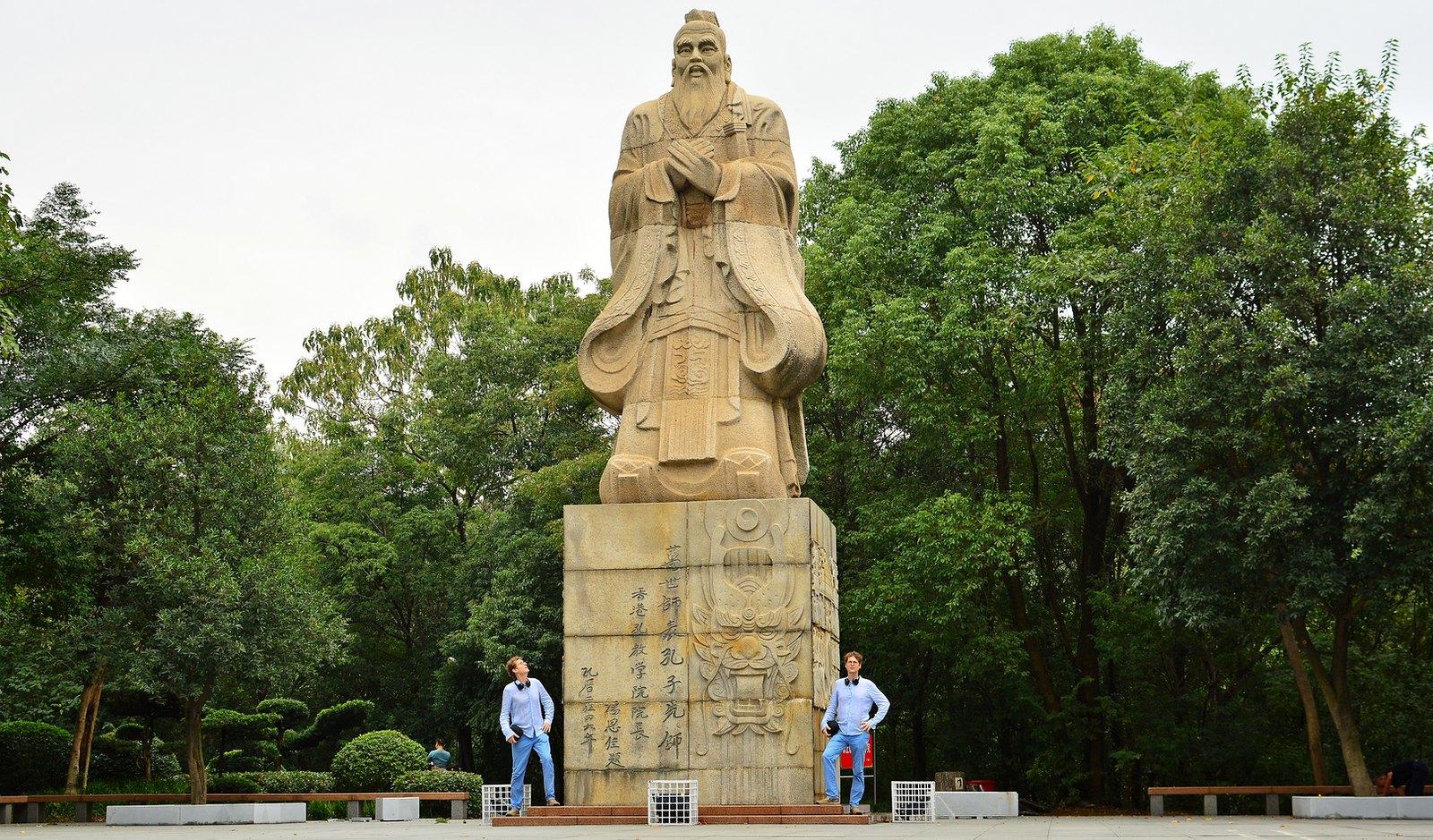Confucius statue, Yueyang