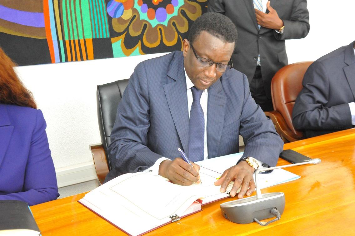 Amadou Ba lors de la Signature des Accords de prêt portant sur le financement des projets du PSE avec la BAD (13)