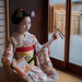 Maiko Umechie of the Umeno Okiya in Kamishichiken