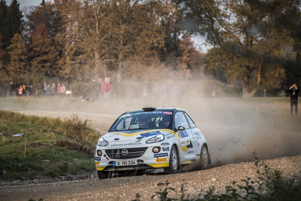 20 SESKS Martins, (LVA), Renars FRANCIS, (LVA), ADAC Opel Rallye Junior Team, Opel Adam R2, Action during the 2018 European Rally Championship ERC Liepaja rally,  from october 12 to 14, at Liepaja, Lettonie - Photo Gregory Lenormand / DPPI