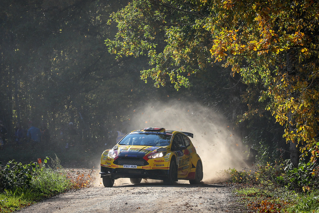 03 BRYNILDSEN Eyvind, (NOR), Ilka MINOR, (AUT), Ford Fiesta R5, Action during the 2018 European Rally Championship ERC Liepaja rally,  from october 12 to 14, at Liepaja, Lettonie - Photo Alexandre Guillaumot / DPPI
