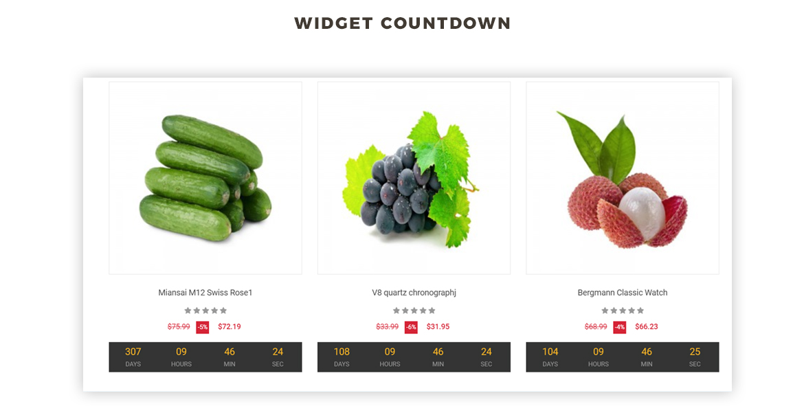 countdown widget - Bos Freshness - Food Prestashop Theme