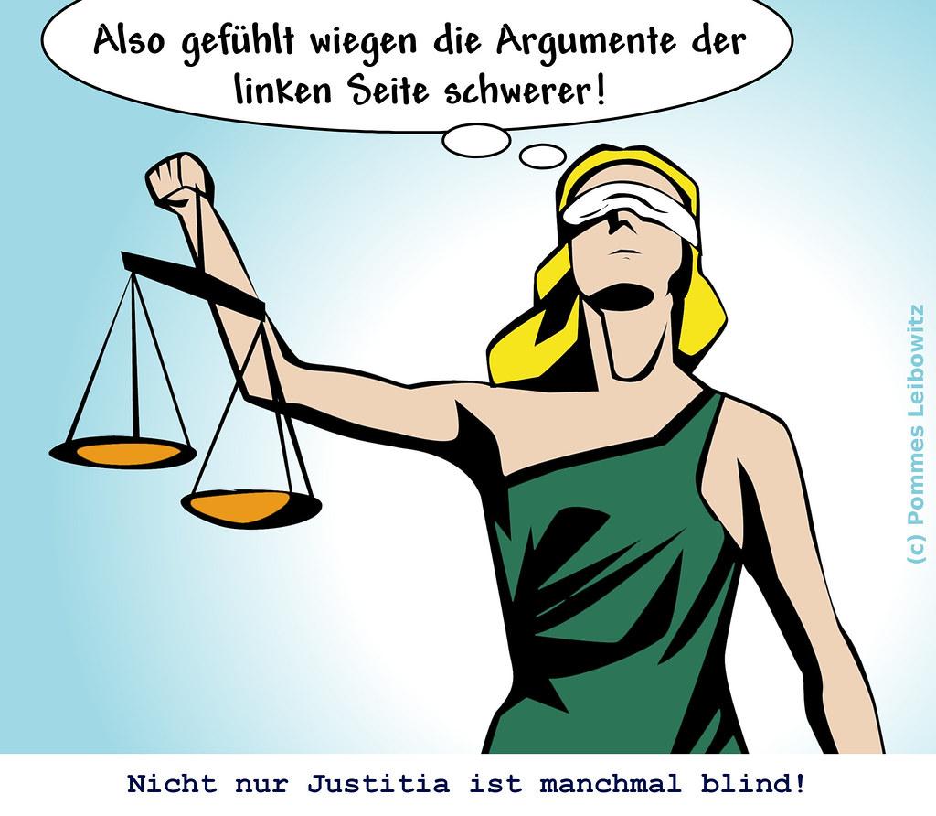 Justitia linksblind