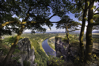 Frame view from Bastei - Germany