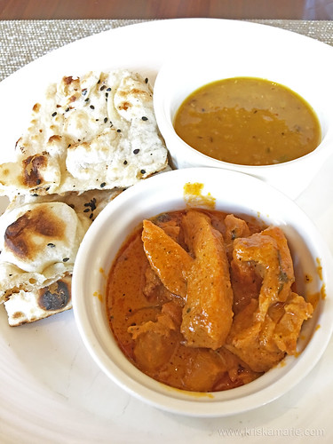 Butter Chicken, Dal, and Roti