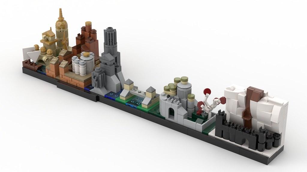 LEGO MOC - Westeros Skyline (Game Of Thrones)