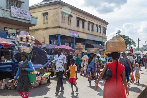ghana kumasi people street ashanti gh