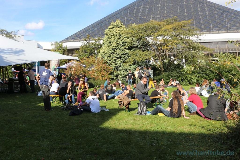 Außenbereich der Eventpyramide in Wien Vösendorf