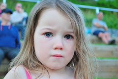 Slightly angry 3 year old