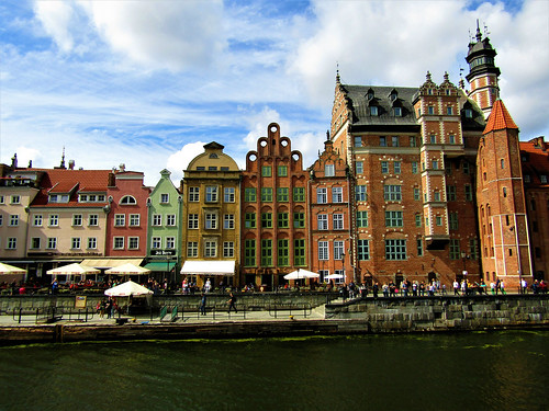 Old Harbor on the Motława River in Gdansk